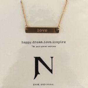 18 karat plated gold Jook and Nona necklace